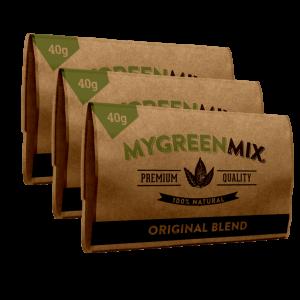 3 paquets de green mix le Tabac à rouler bio sans nicotine